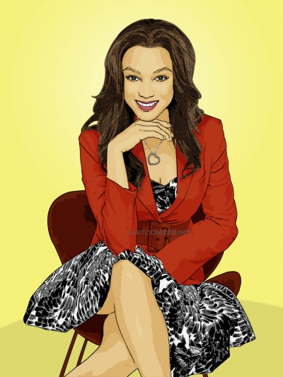Photo Cartoon of Tyra Banks