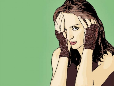 Photo Cartoon of uma thurman