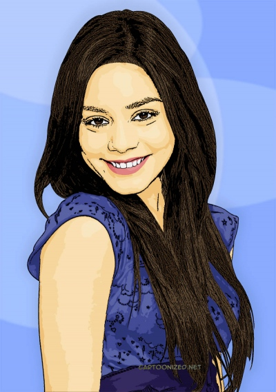 Photo Cartoon of Vanessa Anne Hudgens