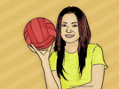 Photo Cartoon of Vicki Zhao