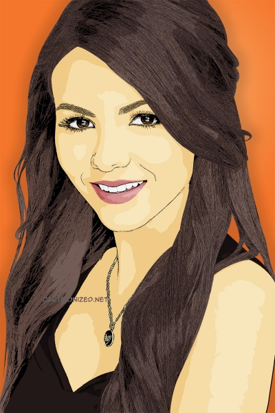 cartoon photo of victoria justice by cartoonized.net