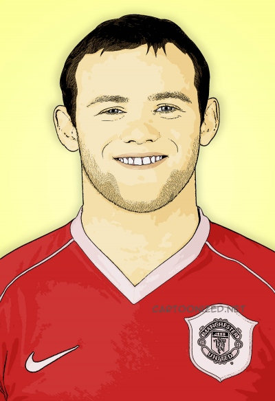 Photo Cartoon of Wayne Rooney
