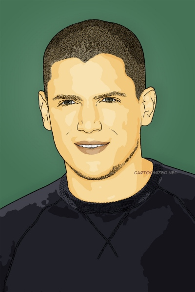 cartoon photo of wentworth miller by cartoonized.net