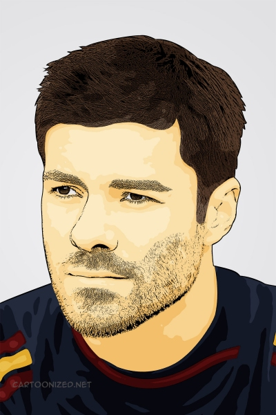 cartoon photo of xabi alonso by cartoonized.net