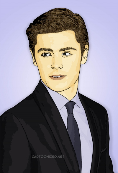 Photo Cartoon of Zac Efron