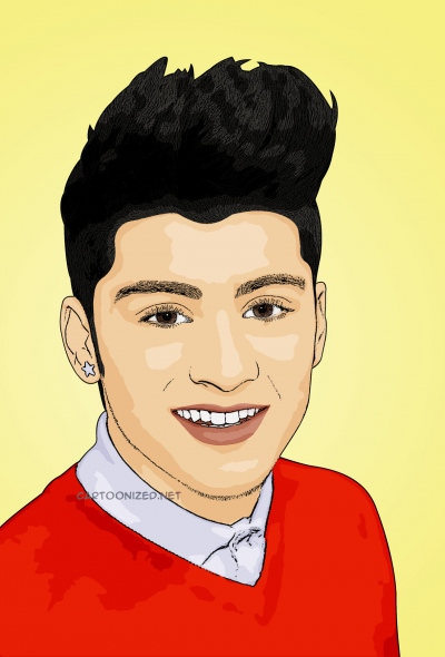 cartoon photo of Zayn Malik