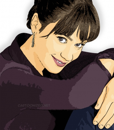 Photo Cartoon of Zooey Deschanel