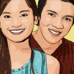 Photo cartoon of Acha Septriasa and Irwansyah