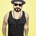 Photo cartoon of AJ McLean