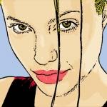 Photo Cartoon of Angelina Jolie