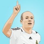 Cartoon photo of Arjen Robben