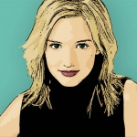 Photo Cartoon of Ashlee Simpson