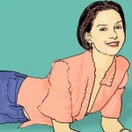 Photo Cartoon of Ashley Judd