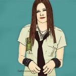 Photo Cartoon of Avril Lavigne