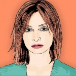 Photo Cartoon of Calista Flockhart