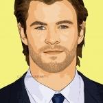 Photo cartoon of Chris Hemsworth