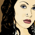 Photo Cartoon of Christina Aguilera