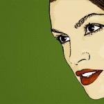 Photo Cartoon of cindy crawford