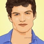 Photo cartoon of Daniel Sharman