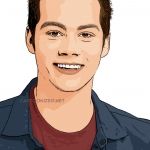 Photo cartoon of Dylan O'Brien