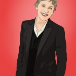 Photo cartoon of Ellen DeGeneres