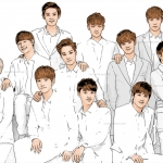 Photo cartoon of Exo