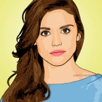 Photo cartoon of Holland Roden