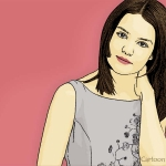Photo Cartoon of Katie Holmes