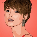 Photo cartoon of Keira Knightley