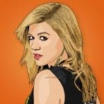 cartoon photo of Kelly Clarkson