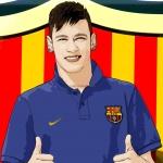 Cartoon photo of Neymar