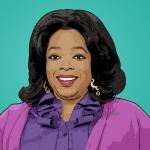 Photo cartoon of Oprah Winfrey