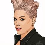 Photo Cartoon of Pink!