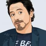 cartoon photo of Robert Downey Jr.