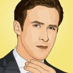 Photo cartoon of Ryan Gosling