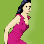 Photo Cartoon of Sandra Bullock