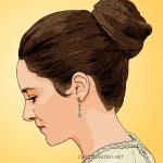 cartoon photo of Shailene Woodley