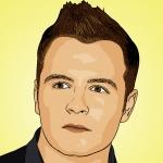 Photo cartoon of Shane Filan of Westlife