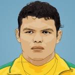 Photo cartoon of Thiago Silva